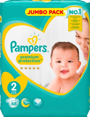 Pampers New Baby  S2 4-8Kg 2x68-p JP