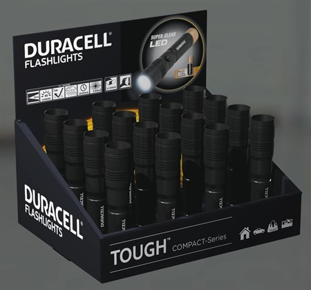 Duracell Flashlight Tough Compact  Display CMP-7 16st