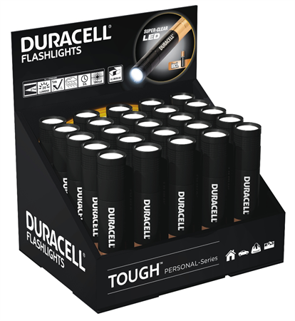 Duracell Flashlight Tough Personal key-3 Display 20 st