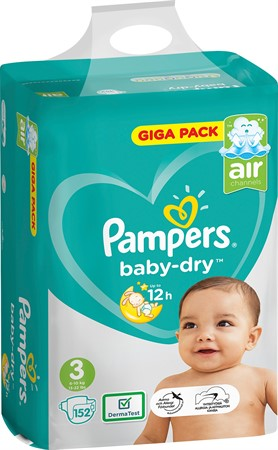 Pampers Baby Dry S3 6-10Kg 1x152-p GBg