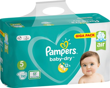 Pampers Baby Dry S5 11-16Kg 1x110-p GBg