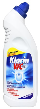 Klorin WC-Gel Ocean Fresh 12x750ml
