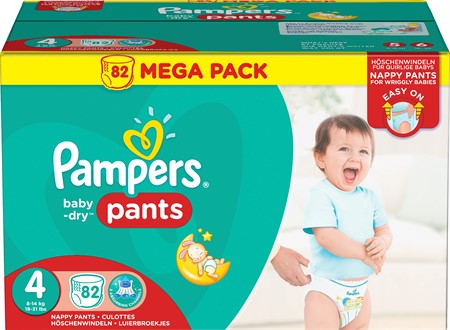 Pampers Baby Dry Pants S4 9-15Kg 1x82-p MB