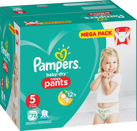 Pampers Baby Dry Pants S5 12-17Kg 1x72-p MB
