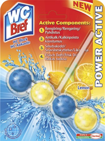 WC Bref Power Active Lemon 10x50gr