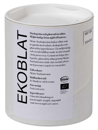 Oblater 80 mm Eko/Krav/Glutenfri 50-pack