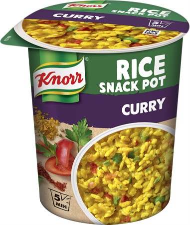 Knorr Snackpot Rice Curry 8x68g