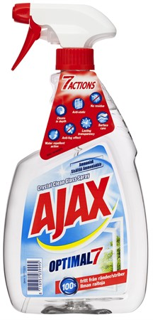 Ajax Crystal Clean Glas Spray 12x750ml